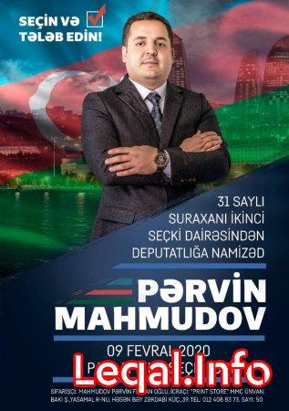 Pərvin Mahmudov seçki təbliğatına başladı